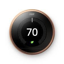 3rd Gen Nest Learning Thermostat - Copper image 2380339380285