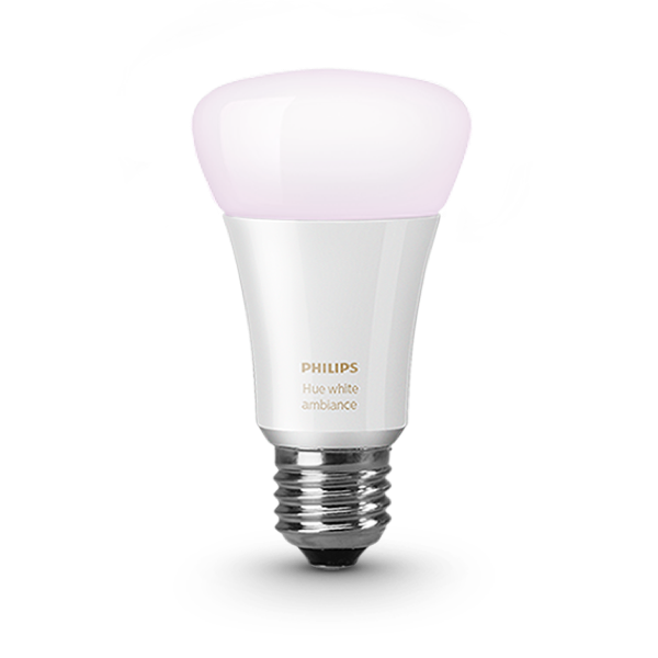 Philips Hue White Ambiance A19 Single Bulb image 2380290490429