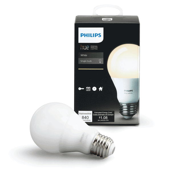 A19 Philips Hue Dimmable Warm White Indoor (Single)
