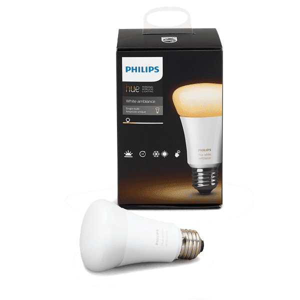 Philips Hue White Ambiance A19 Single Bulb image 2380290457661