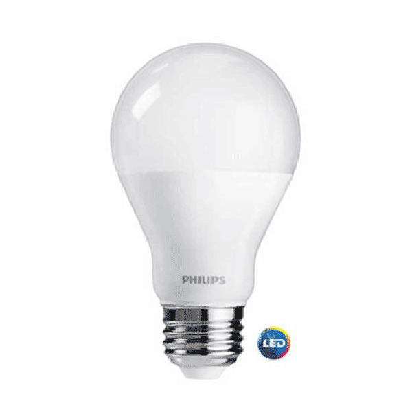 A19 Philips 9W Dimmable Warm White Indoor (6 Pack) image 2380280397885