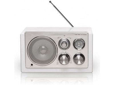 Korhone.com - Denver TR-61 Valkoinen Wood AM/FM Radio