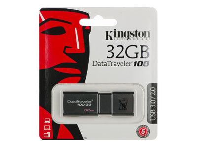 Korhone.com - Kingston 32GB Datatraveller 100 G3 Memory Stick USB 3.0