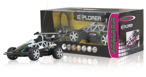 Jamara Kauko-ohjattava auto R/C Buggy Explorer RTR / With Lights 1:14 Musta