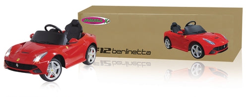 Korhone.com - Jamara Ajettava ja kauko-ohjattava auto R/C RIdeOn Car Ferrari F12 Berlinetta 2+6 Channel Mechanical Gear-Shift / Sound / With Lights 1:4 Punainen