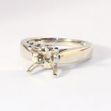 14kt Mounting Holds 1ct Center Diamond