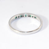 14kt Channel Set Diamond and Emerald Ring