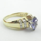 18kt Tanzanite and Diamond Ring