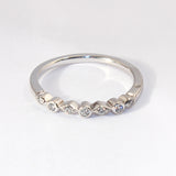 14kt Bezel Set 7 Diamond Band