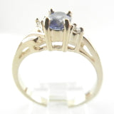14kt  Oval  Tanzanite and Diamond Ring