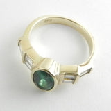 18kt Gold Emerald and Diamond Ring