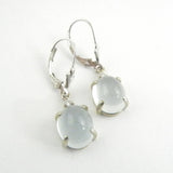 Aquamarine Cabochon Drop Earrings