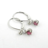 Ruby Dangle Earring with Diamond Accent