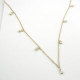 14kt 7 Diamond Station Necklace