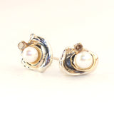Orbit Akoya Pearl Earrings with Cognac Diamonds