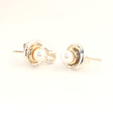 Orbit White Pearl Earrings