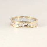 5mm Moonscape Ring with Gold Outer Bands