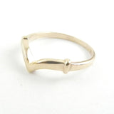 14kt Gold Small Chevron Band