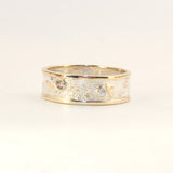 7mm Moonscape ring with 3 Diamonds