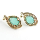 Pear Shaped Peruvian Opal Earrings