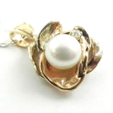 Grand Orbit Pearl Pendant with Diamond