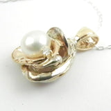 Orbit Pearl Pendant with Diamond