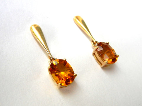 Citrine and 14KY Gold Earrings (Post)