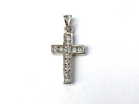 White Gold & Diamond Cross