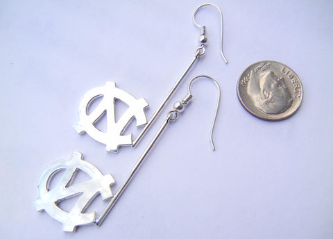 NC Tarheels Logo Earrings