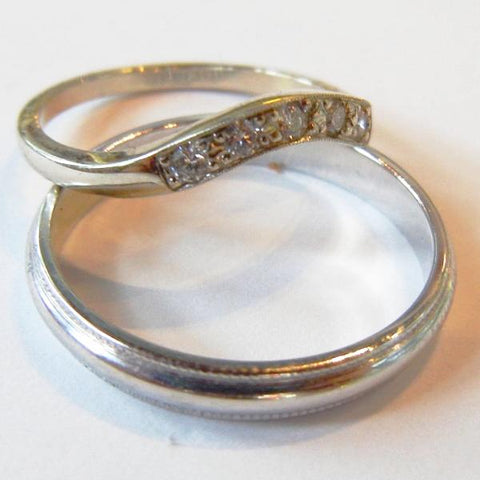 Gold & Diamond Wedding Bands