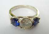 14kt Yellow Gold Diamond & Sapphire Ring