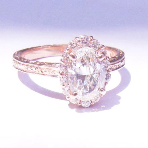 14kt Rose Gold & Diamond Engagement Ring