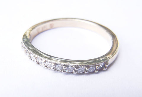 14kt Yellow Gold & 11 Diamond Band