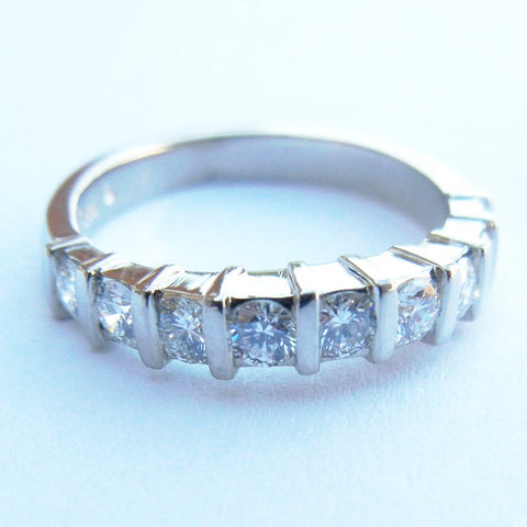 14kt White Gold 9 Diamond Band