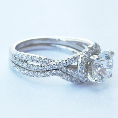 14kt White Gold Diamond Wedding Set