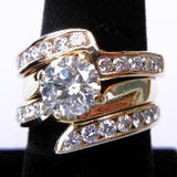 14kt Yellow Gold Abstract Diamond Ring
