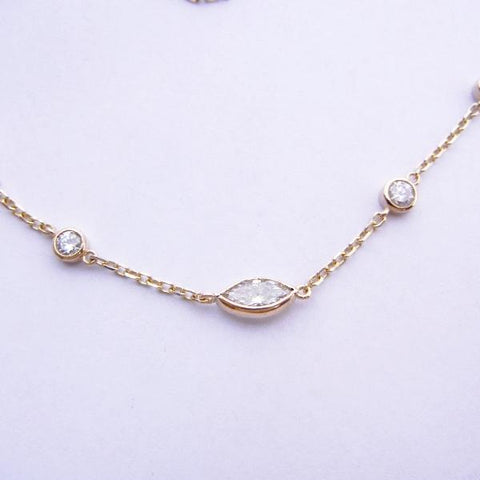 14kt Yellow Gold & Diamond Necklace