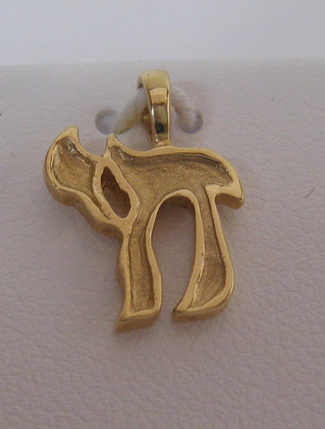Solid Chai Charm 1.6 grams Yellow Gold