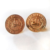 14ky Alexandria City Seal Cuff Links