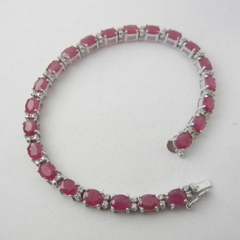 14kt Ruby and Diamond Tennis Bracelet