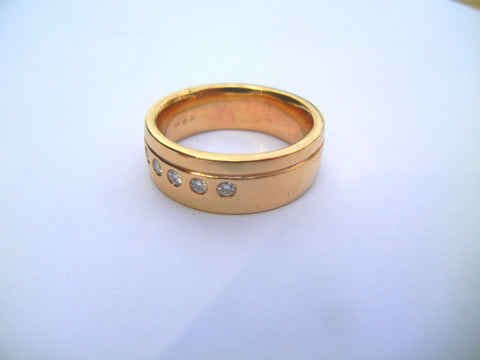 Gold Band with Diamonds