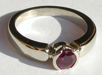 Bezel Set Ruby Ring