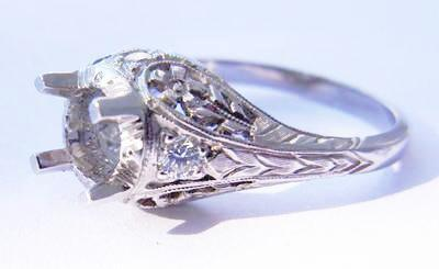 Platinum Filigree Semi Mount