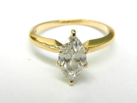 Marquis Cut Diamond an d14K Gold Ring