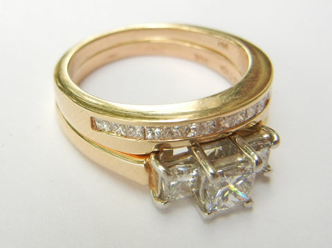 Gold and Diamond Wedding Set
