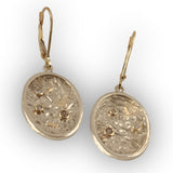 Three Diamond Moonscape Earrings