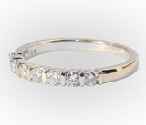 14kt Wedding Band with 7 Diamonds