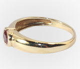 14kt Bezel Set Oval Garnet Ring