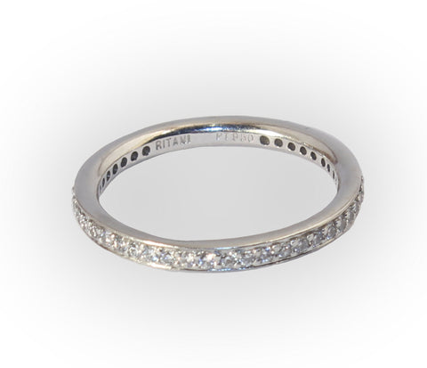 Platinum Band With 40 .01ct Diamonds