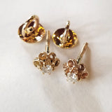 14kt & Diamond Buttercup Earrings